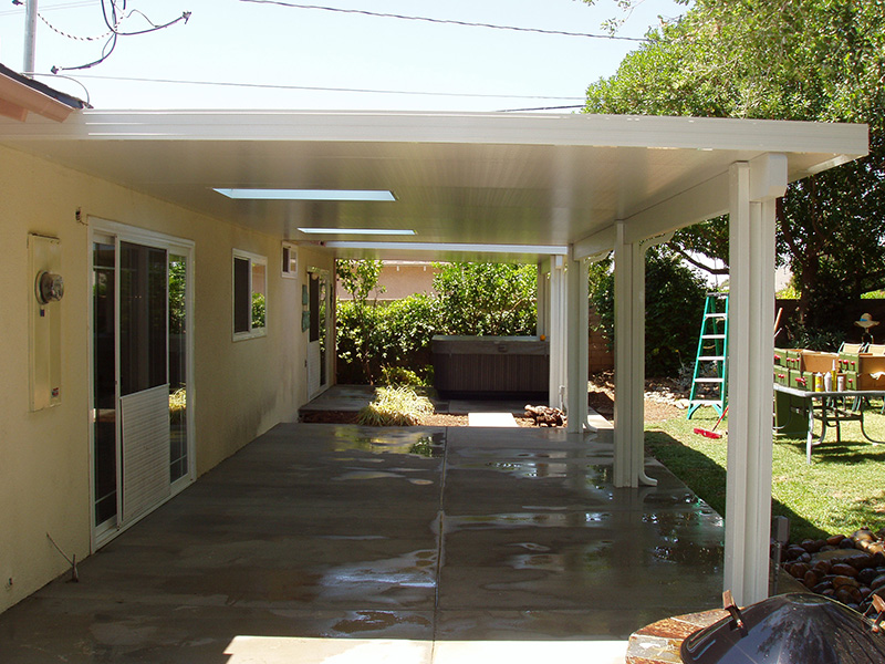 Wonderful The Difference Is Clear When U2013 Unlike Wood U2013 Our Full Shade Patio Cover Is  Never In Need Of Paint Or Repair.